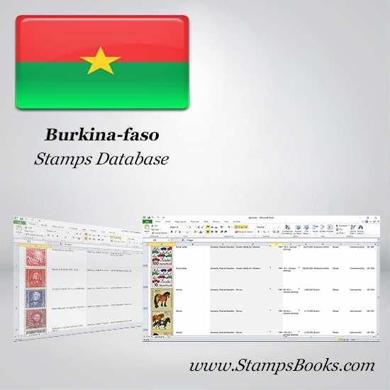 Burkina faso Stamps dataBase