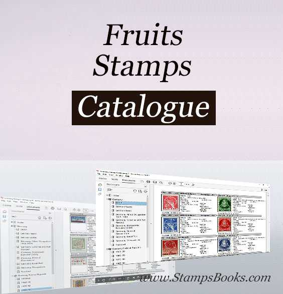 Fruits stamps