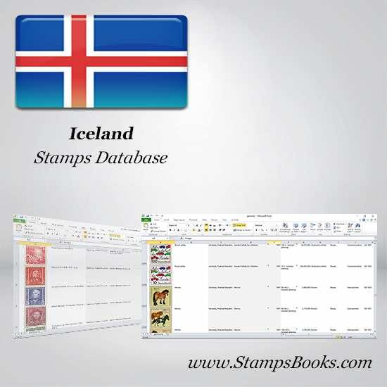 Iceland Stamps dataBase