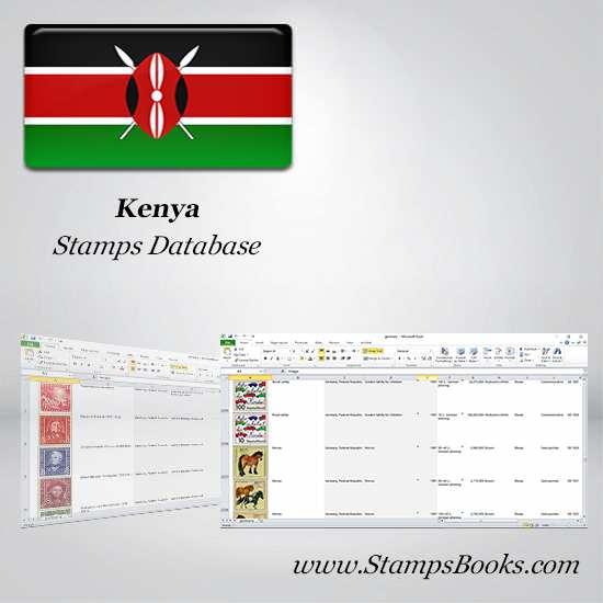 Kenya Stamps dataBase
