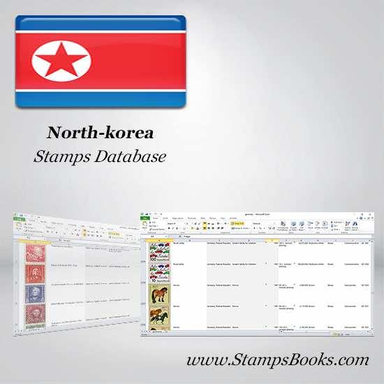 North korea Stamps dataBase
