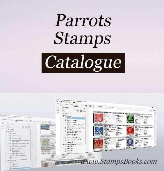 Parrots stamps