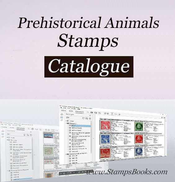 Prehistorical Animals stamps