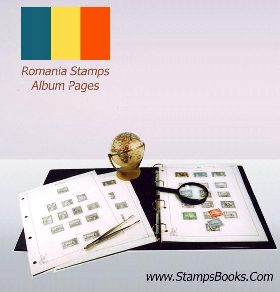 Romania stamps Album