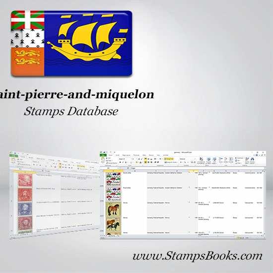 Saint pierre and miquelon Stamps dataBase