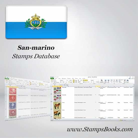 San marino Stamps dataBase