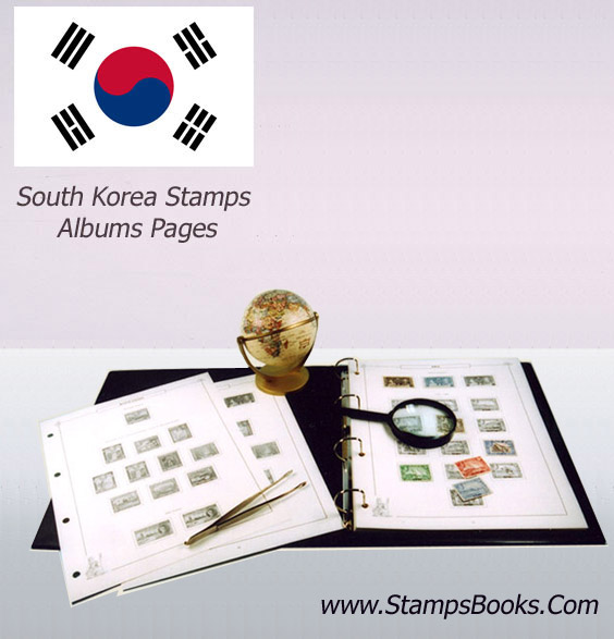 Korea stamps Album