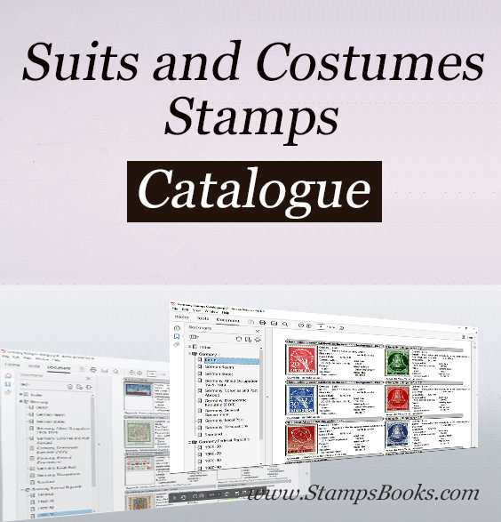 Suits and Costumes stamps