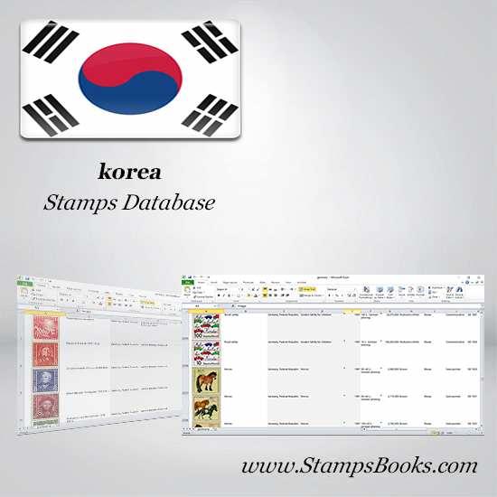 korea Stamps dataBase